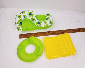 Vintage Barbie / 1970s Blow-Up furniture/ Inflatable Doll Furniture / 3 piece barbie pool toy set / ZEE Toys / Barbie furniture