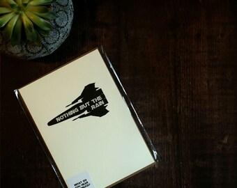 Nothing but the Rain - Battlestar Galactica Greeting Card