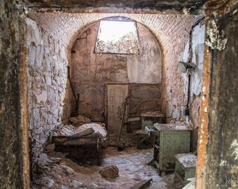 Eastern State Penitentiary - Home Sweet Home - Photography - Fine Art - 12x8 Print matted to 14x11 - historic ruins Philadelphia
