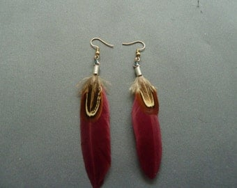 Earrings, Feathers, Feather Earrings, Ear Jewelry, Feather Jewelry,