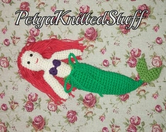 Mermaid doll with detachable tail fin crochet, Crochet Mermaid doll, Mermaid toy, Ariel Doll, Little Mermaid Doll, Crochet doll,Ariel toy