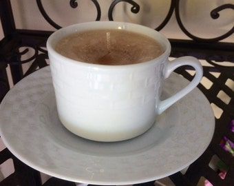 Tea Cup Candle: Coffee Scented in Different Styles