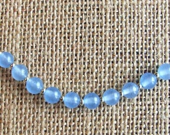 Aquamarine and Sterling Silver Necklace