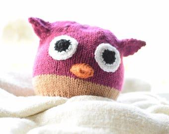 Purple Hoot Owl Hat