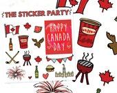 Canada Day Planner Stickers | ERIN CONDREN