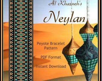 "Peyote Bracelet Pattern ""NEYLAN"""