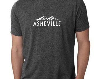 Asheville Mens Tshirt, Men's Graphic T-Shirt, Charcoal Gray, Shirts with Sayings, North Carolina