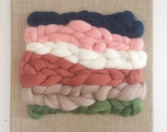 Woven wool on burlap canvas