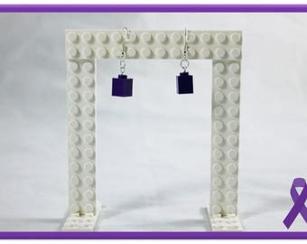 Lego Earrings - 1sie (Purple)