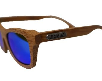 Bamboo Wood Sunglasses with Polarized Lenses by Let's Be Irie