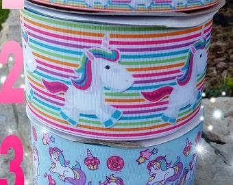 Unicorn ribbon, unicorn resins, unicorn crafts, ribbon