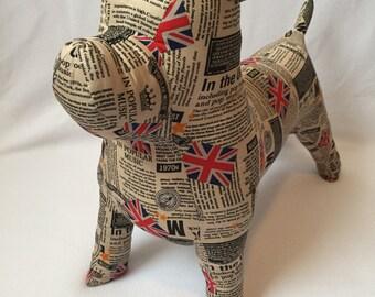 Bull dog mannequin
