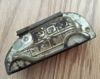 Clearance Vintage chocolate mold tin automobile candy making