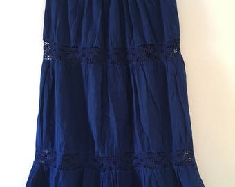 Mexican Blue Long Skirt