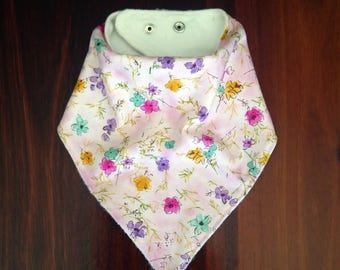 Bandana Bib, Dribble Bib, Teething Bib, Drool Bib, birth to toddler, Bamboo Lined