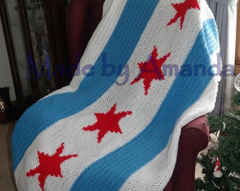 Chicago Flag blanket