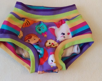 3T Children's training underwear w/absorbent liner made with knit fabric and OBV - scrundies/scrundlewear