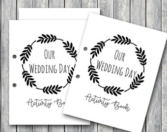 Wedding Kids Activity Book and Coloring, Wedding Kids Table Activities, Wedding Coloring Book Childrens Activity Sheets Printable, Kids Maze