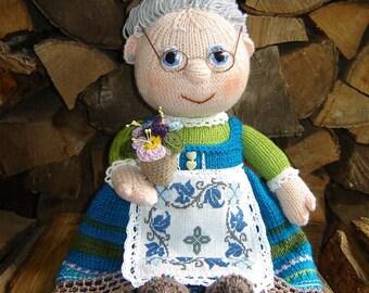 Grandmother's doll,Grandma decor, A handmade doll, Interior doll, A gift to my grandmother, A gift to mom, Mothers Day