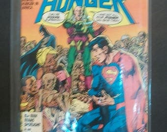 1986 Superman  And Batman Heroes Against Hunger #1  One Shot Lex Luthor on Cover VF-NM Unread Vintage DC Comic Book