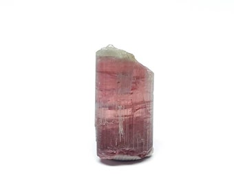 Green Capped Pink Tourmaline (Rubellite) Crystal