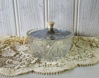 Vintage Glass Sugar Pot
