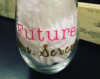 Custom Bride Wine and Coffee Mugs