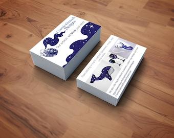 Custom Business Card Design - OOAK business cards, shop branding, graphic design, custom design, custom business cards