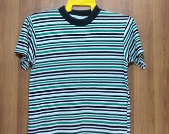 Vintage SAS Stripes Made In Usa T-shirt - Adult Medium Size