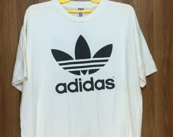 Vintage ADIDAS TREFOIL Tshirt Made In Usa Large Size Chest 24""