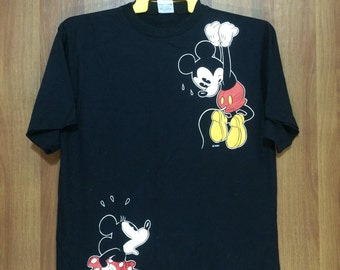 Vintage Disney MICKEY MOUSE T-shirt Large Adult Size Chest 20""