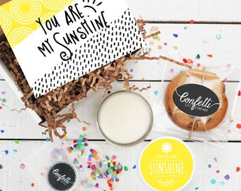 Mini You Are My Sunshine Gift Box - Thank You Gift | Friend Gift | Send a Gift | Get Well Gift | Thinking of You Gift