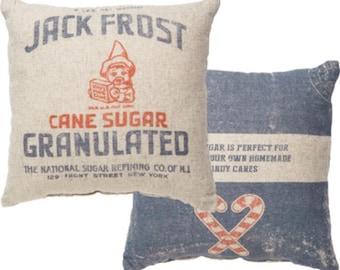 Jack Frost Granulated Sugar Vintage Farmhouse Super Soft Christmas Pillow