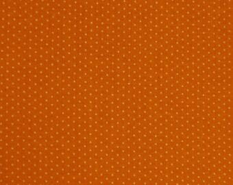 Calico Fabric Vintage Quilting Orange Polka Dots Concord