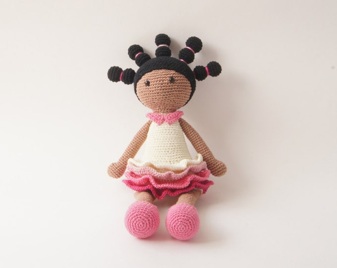 Crochet Doll, Stuffed Toy, Gift For Kids, Amigurumi Doll, Crochet Amigurumi Handmade, Gift for Girl, Ballerina Doll