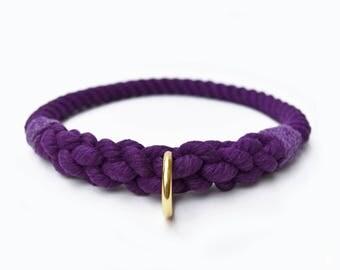 Custom Purple Rope Slip-On Dog Collar