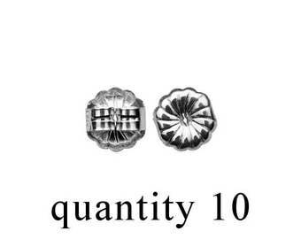 TEN Sterling Silver Clutch/ Sterling Silver Earnut/ Sterling Silver Earring Backs