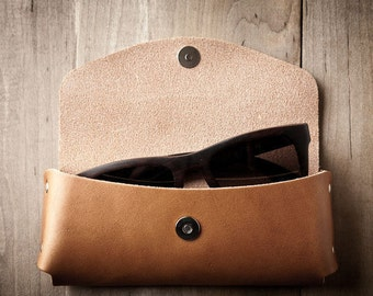 Leather Sunglasses Case, Leather Sunglass Case, Glasses Case, Leather Case, Leather Sunglass Cover 044