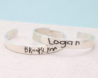 Personalized Bracelet - Mom Gift - Handwriting Jewelry - Kids Art Jewelry - Personalized Memorial Jewelry - Handwriting