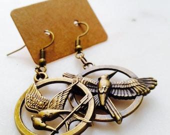 Hunger Games | Mockingjay Antique Bronze Earrings