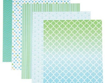 Darice® Patterned 8.5x11 Cardstock Paper Pack - Minty Fresh Prints - 25 sheets, 65lb cardstock