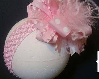 Pink Polka Dot Over The Top Boutique Hairbow
