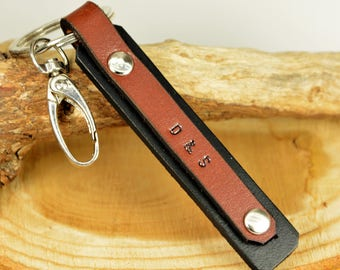 FAST SHIPPING, Keychain, Personalize Men's Gift, New car gift, Father's Day Gift, Leather Car Keychain, Key Fob Custom Special Gift for Men