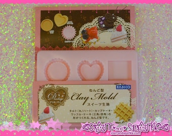Padico Clay Mold - Sweets Paste (PE) - for Soft Clay, Charms, Accessories, Deco, Kawaii, Crafts, Miniature Food