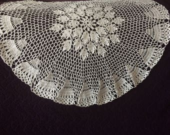 Huge doily / small round table cloth crochet hand made