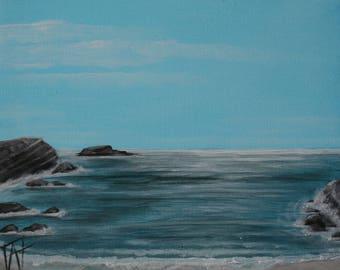 """Painting """"Entre Ciel et Mer"""""""