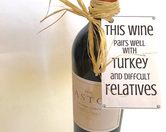 Thanksgiving Wine Bottle Tags