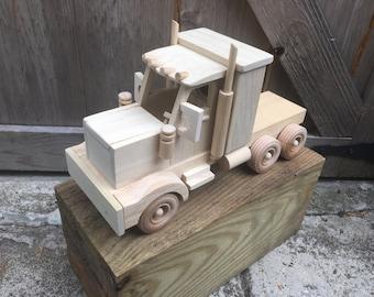 Wooden Truck w/mirrors