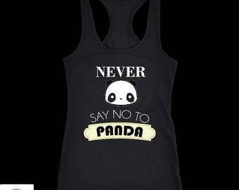 Panda tank top. Perfect Gift for Your Dad, Mom, Boyfriend, Girlfriend, or Friend