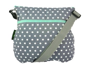 Bag rockabilly star grey teal